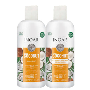 Inoar Bombar Coconut Nutrition and Hydration Explosion Kit 100% Vegan