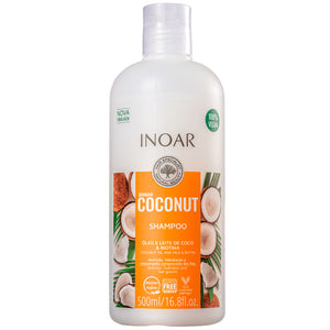 Inoar Bombar Coconut Hair Growth Shampoo 500ml/15.8fl.oz