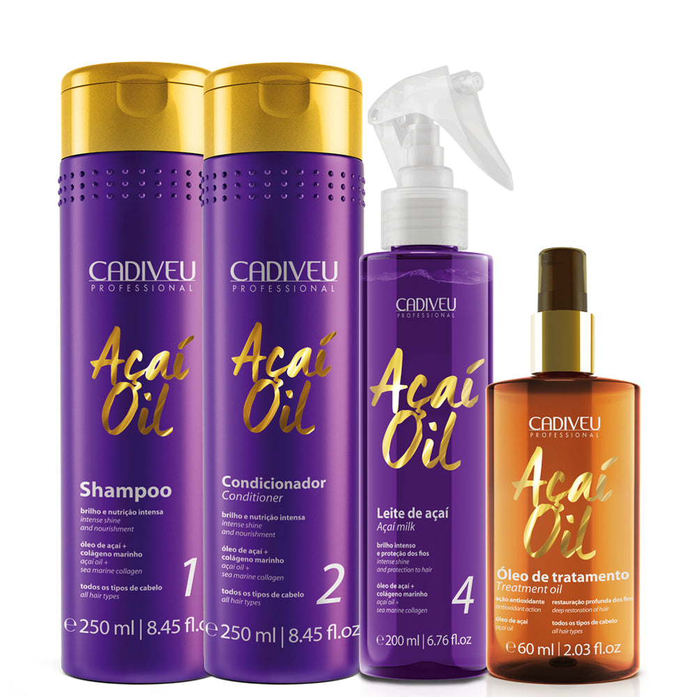 Cadiveu Acai Oil Resuscitation Kit + Oil Treatment