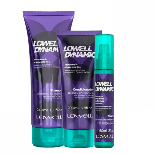 Lowell Kit Dynamic Shampoo, Conditioner and Tonic Recovery and Strength