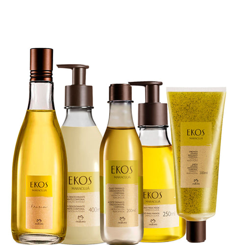 Kit Natura Ekos Complete Body Care Freshness Passion Fruit