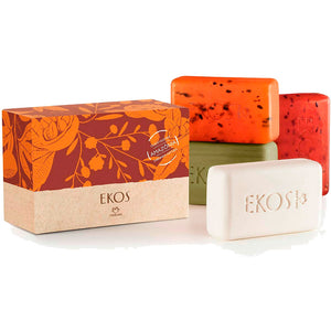 Natura Ekos Pure Vegetable Bar Soaps Creamy and Refreshing Exfoliating