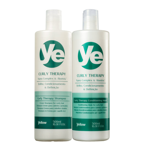 Yellow Curly Therapy Shampoo + Curly Hair Conditioner Kit
