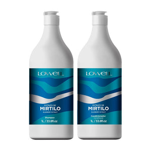 Kit Lowell Shampoo+Condicionador Complex Care Blueberry Extract 2X1L