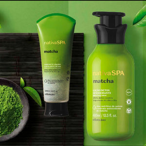O Boticário Kit Nativa SPA Matcha Body Deodorant Moisturizing Lotion & Liquid Soap