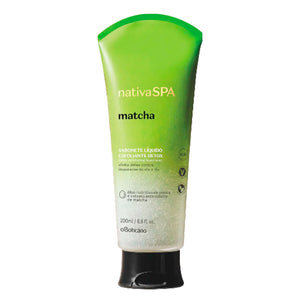 O Boticário Nativa SPA Exfoliating Liquid Soap Detox Matcha 200ml/6.7fl.oz