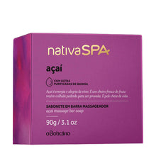 Load image into Gallery viewer, O Boticário Nativa Spa  Massaging Bar Soap Açaí 90g/3.1oz