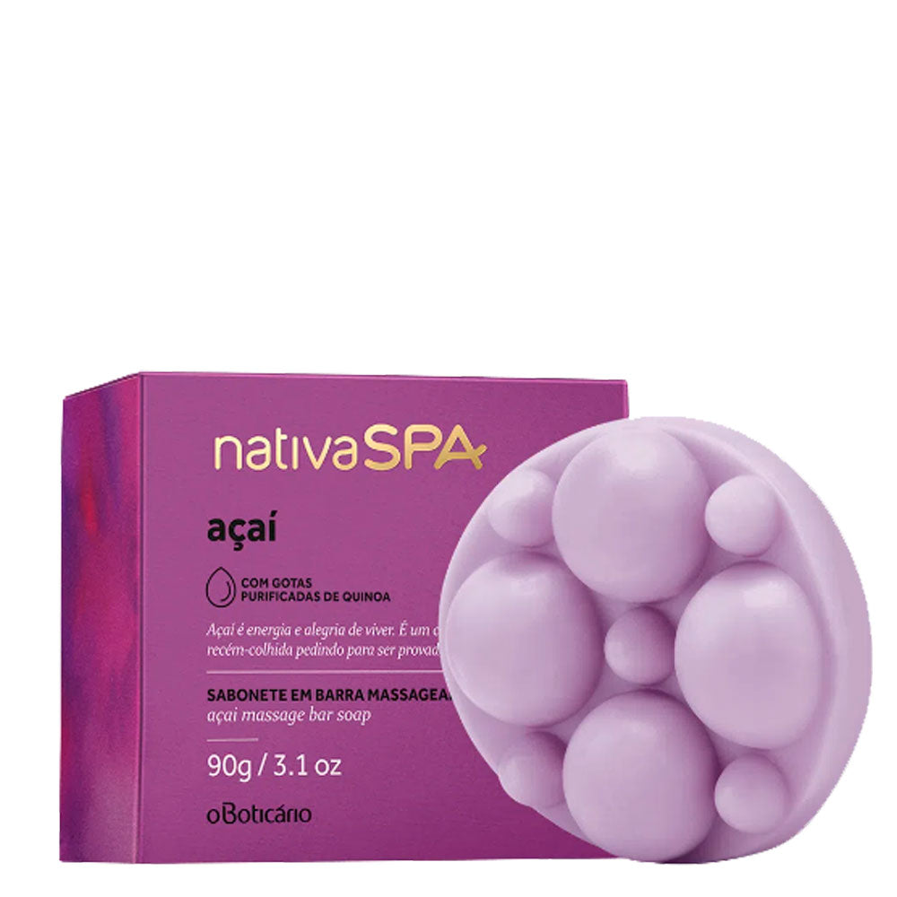 O Boticário Nativa Spa  Massaging Bar Soap Açaí 90g/3.1oz