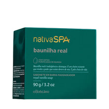 Load image into Gallery viewer, O Boticário Nativa Spa Massaging Bar Soap Baunilha Real 90g/3.1oz
