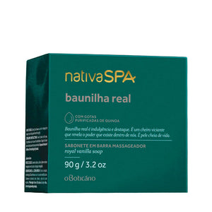 O Boticário Nativa Spa Massaging Bar Soap Baunilha Real 90g/3.1oz