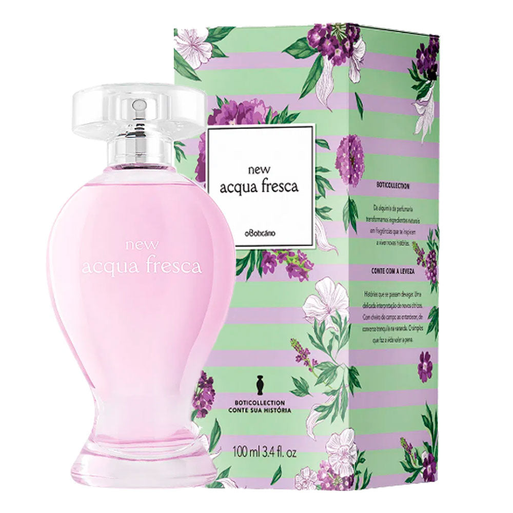 O Boticário New Acqua Female Deodorant Cologne Citrus Freshness 100ml/3.38fl.oz