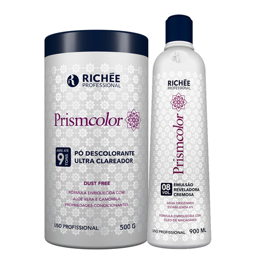 Pó Descolorante Richée Prismcolor Ultra Clareador + Ox 8 Vol