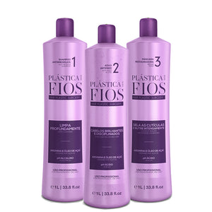 Cadiveu Plastica dos Fios Brazilian Keratin Box kit hair treatment 3x1L 34oz