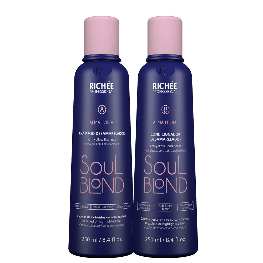 Richée Soul Blond Shampoo + Defogging Conditioner Kit