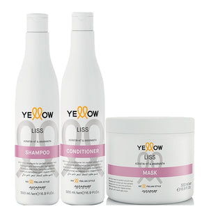 Alfaparf Yellow Liss Kit Healthy Smooth Moisturizes and Nourishes