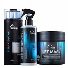 Load image into Gallery viewer, Truss Kit Net Mask + Ultra Hydration Shampoo + Uso Obrigatório Hair Reconstructor
