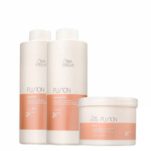 Wella Fusion Intense Repair Shampoo, Conditioner and Mask Kit