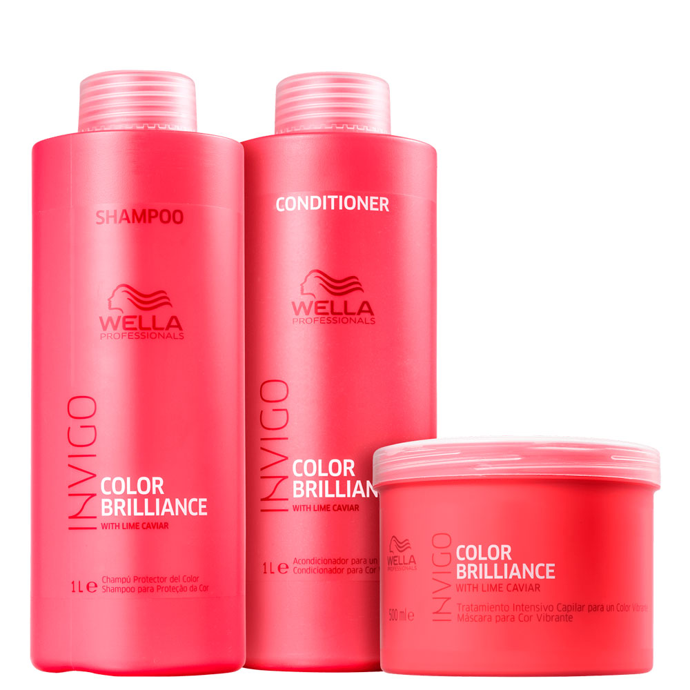 Kit Wella Invigo Color Brilliance Complete Salon Treatment