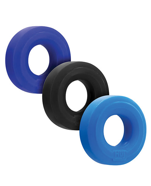 Hunky Junk C Ring Multi Pack blue