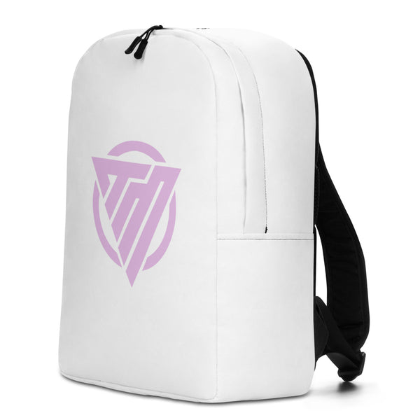 Minimalist Backpack Pink Icon