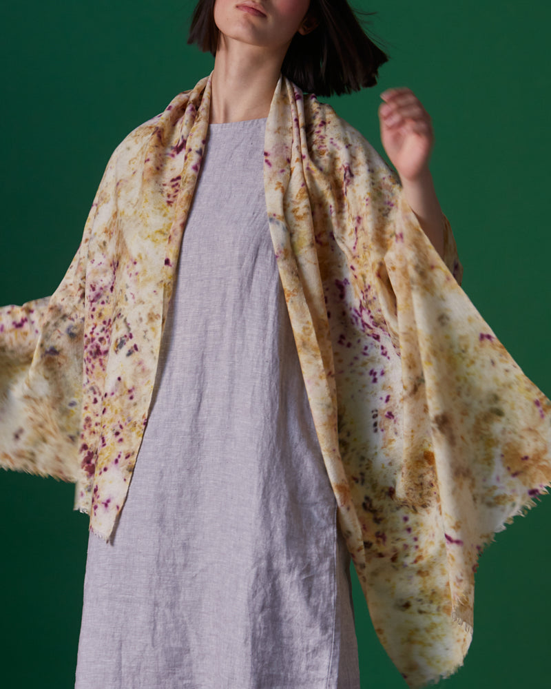 Natural Dyed Silk/Pashmina Shawl
