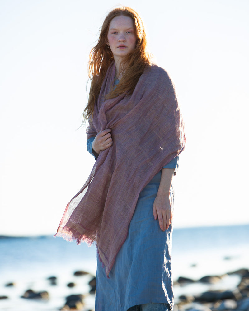 Large, Hand-woven Linen Shawl