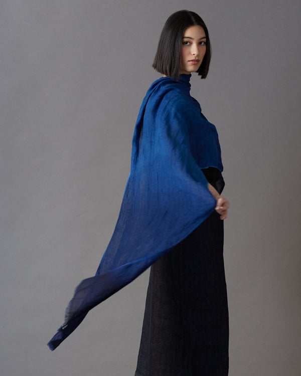 Tinted Hand-woven Linen Shawl