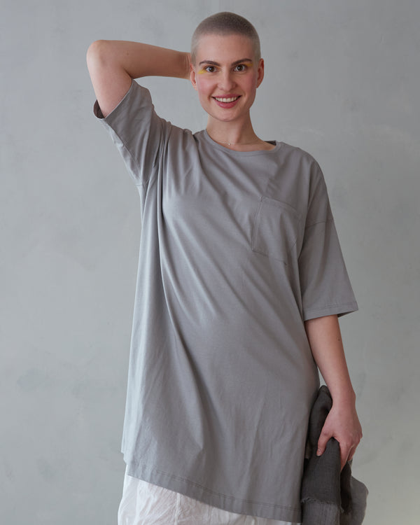 Roomy, Organic Cotton Knit T-shirt Dress