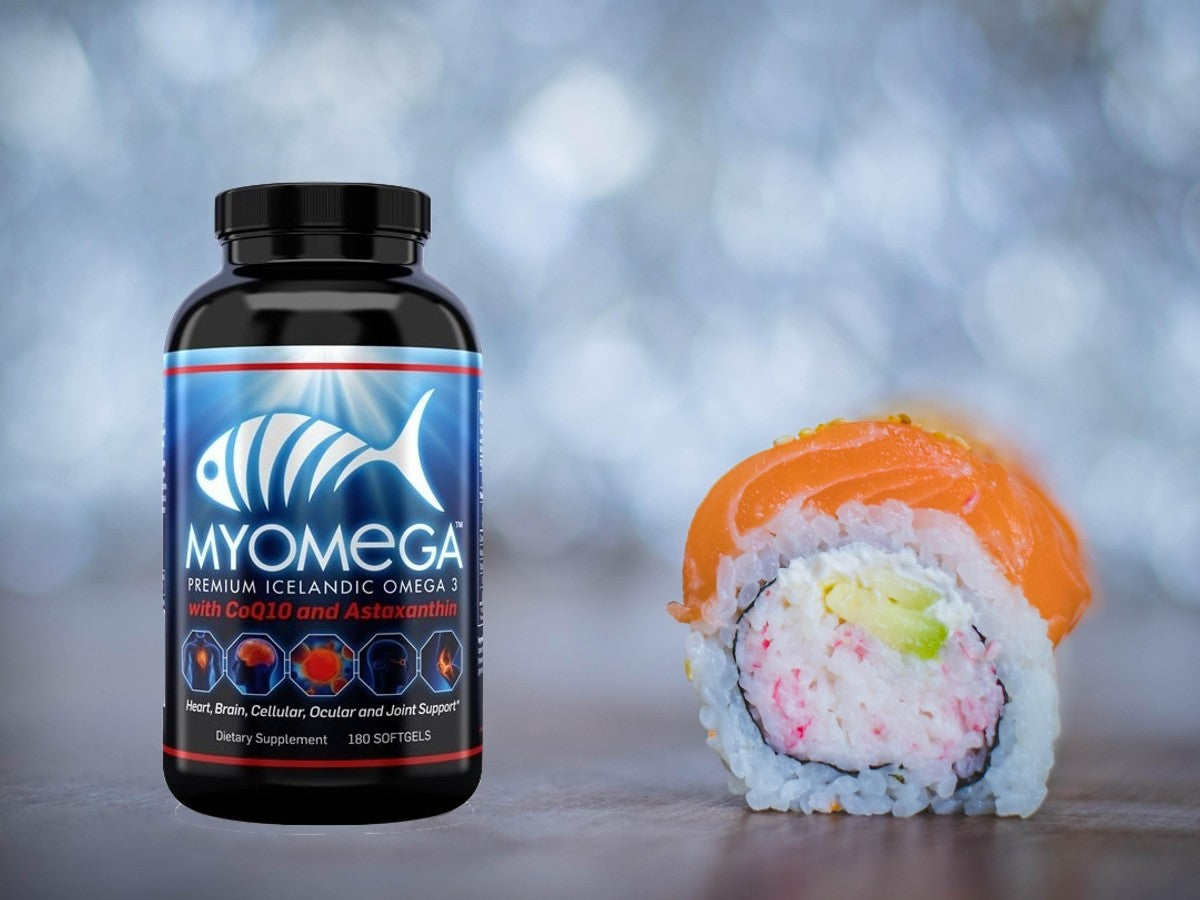 MYOMEGA: The Omega 3 supplement that uses synergy to go way beyond general health.