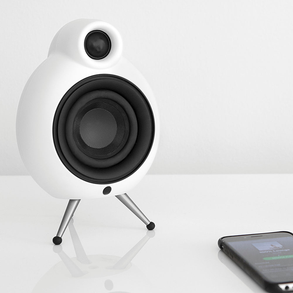 Podspeakers MicroPod MK2 White Bluetooth Speaker on white background