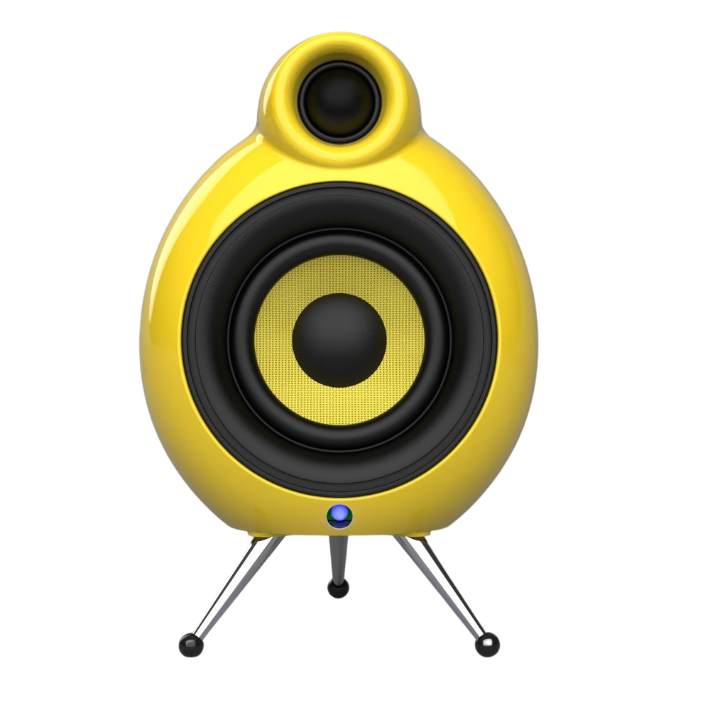 Podspeakers MicroPod Air Yellow WiFi Speaker no background