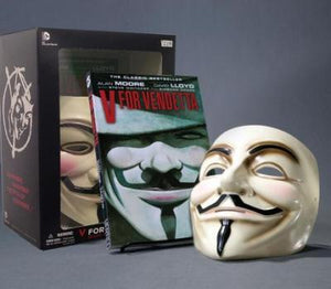 V for Vendetta Deluxe collector set. Book and mask