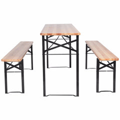 Giantex 3 PCS Outdoor Wood Picnic Table
