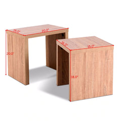 Giantex Set of 2 Nesting Coffee End Table