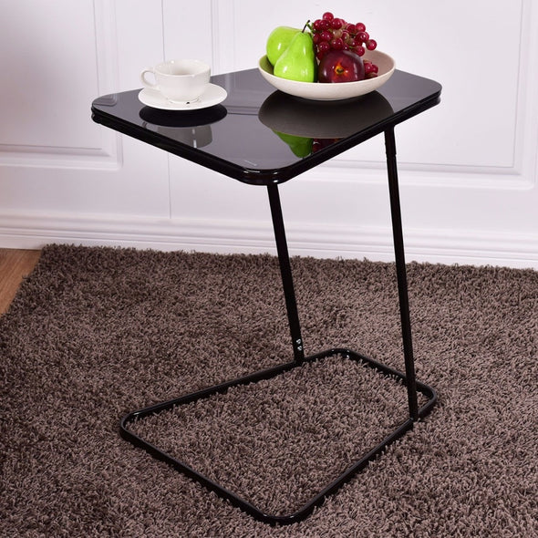 Goplus Modern Glass Top End Table