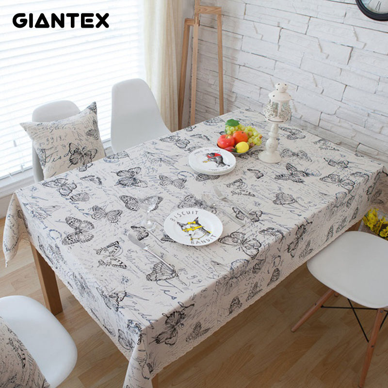 GIANTEX Decorative Table Cloth Linen