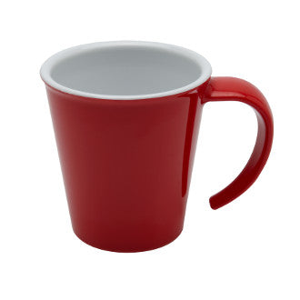 Mug empilable à anse rouge