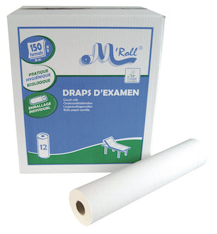 Drap ouate recyclée lisse 2x18gr 150F x12