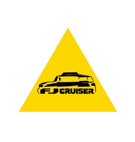 FJ cruiser warning sticker peel / stick - OGRAPHICS