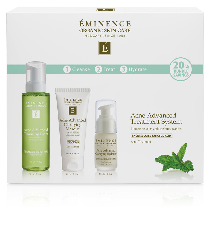 Eminence Organics Acne Advanced 3-Step Treatment System - Muse Hair & Beauty Salon