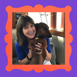 Meet Auggie — header extraordinaire — and his person, Deborah