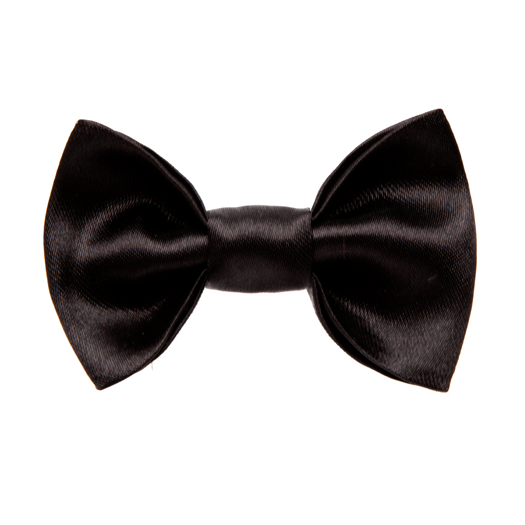 Black Satin <br>Dachshund Hair Bow