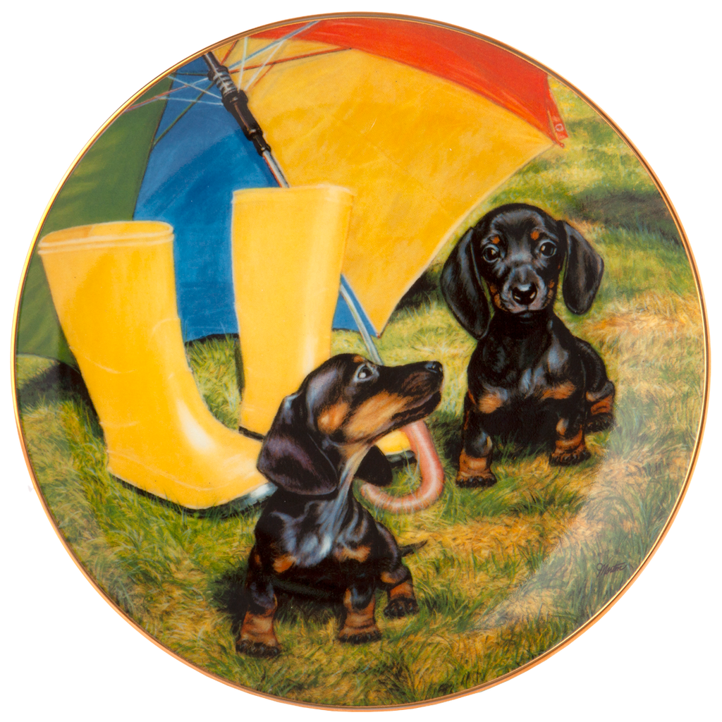"""Rainy Day Pals"" Collectible Plate"