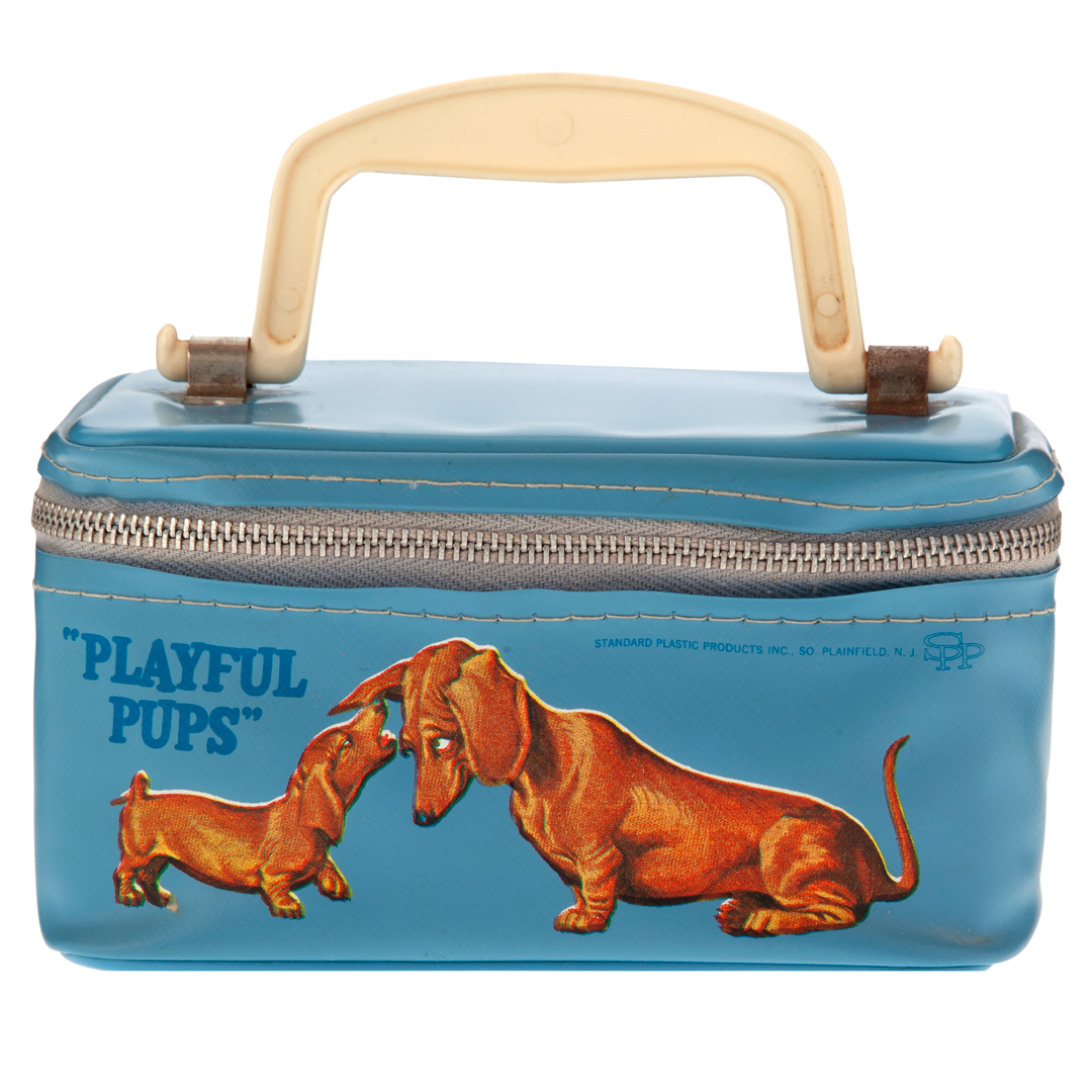 Blue Playful Pups Pouch, c. 1950s
