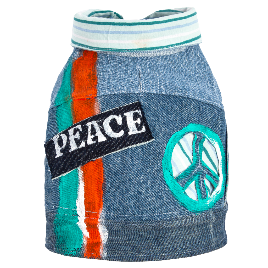 'Peace' Denim Vest
