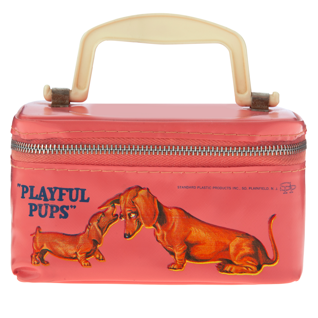 Pink Playful Pups Pouch, c. 1950s