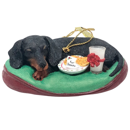Sleeping Dachshund Ornament