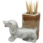 Japanese Ceramic Dachshund Toothpick holder