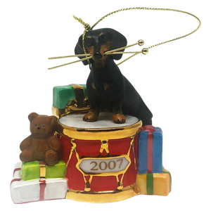 Rockin' Out Dachshund Ornament
