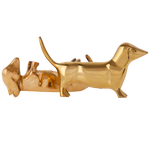 Solid Brass Dachshunds (Set of Two)